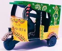Wooden Auto Rickshaw