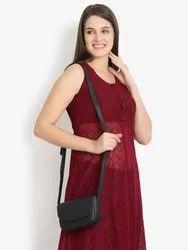 Solid Sling Bag (Black)