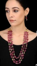 Cl Code Tourmaline Stone Bollywood Fashion Traditional Jewellery Necklace