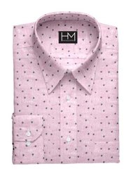 Hangerme Cotton Men Dotted Casual Wear Shirt
