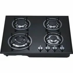 Automatic Glass Top Four Burner Gas Stove