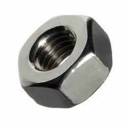 Silver Galvanized Mild Steel Hex Nuts