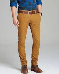 Casual Wear Chinos Mens Brown Pant, Machine wash