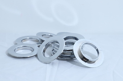Flat Silver Eyelet Ring For Curtain