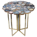 Mix Agate Steel Table