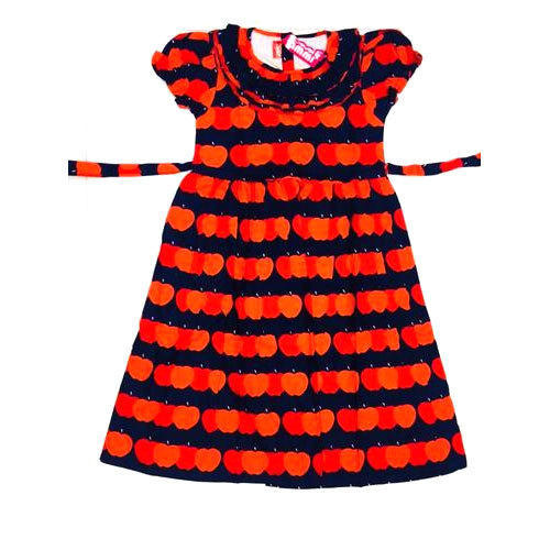 a660540a2 Cotton Red And Black Party Wear Printed Frock