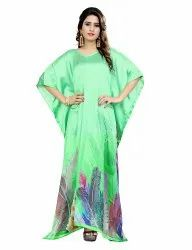 Digital Floral Printed Formal Wear Long Kaftan For Women