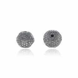 Silver Filigree Diamond Bead