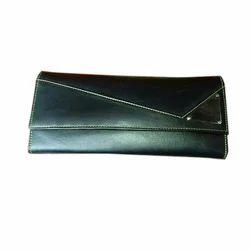 Clutch bag Black Leather Ladies Purse