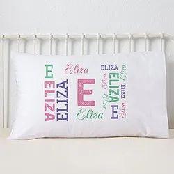 Eiffel Textiles White Birthday Return Gift Printed Pillow, Shape: Rectangular