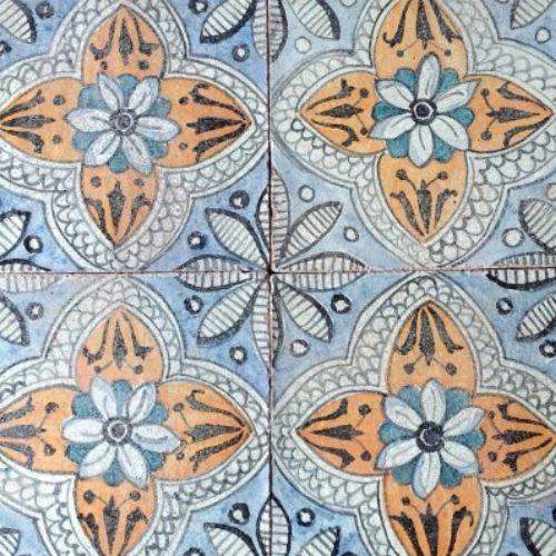 Italian Tiles Italian Ceramic Tile Mail: Ceramic Floral Italian Tile, 8