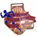 Die Cut Brass Marathon Medal