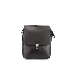 Black Men Solid Sling Bag