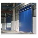Toshi Single Phase Black And Blue Industrial Aluminum Roller Doors