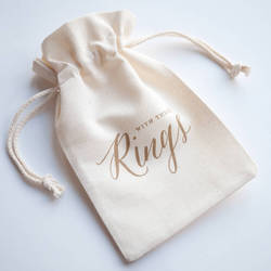 Fabric Wedding Ring Bag