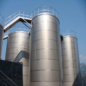 Stainless Steel Vertical Milk Storage Tank