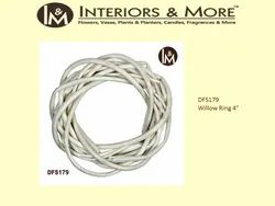 White Brass Willow Ring, for Decoration