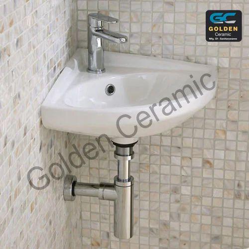 new concept 15e8d 10f93 Corner Wash Basin