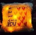 Multicolor Fabric Custom Led Cushions