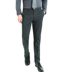 Dark Grey Formal Wear Mens Cotton Pant