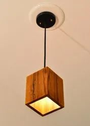 Warm White LED Wooden Hanging Lamp