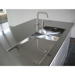 Silver Stainless Steel Worktop, Size: 1810 X 810 X 2mm