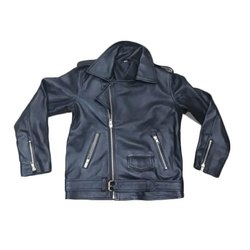 Mens Black Full Sleeve Leather Jackets, Size: S - XXL
