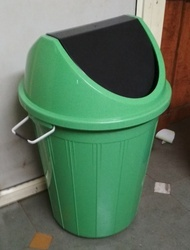 DKNV Round Outdoor Swing Plastic Dustbin, Capacity: 25 liter