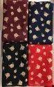 4 Matching Rayon Gold Print Fabric