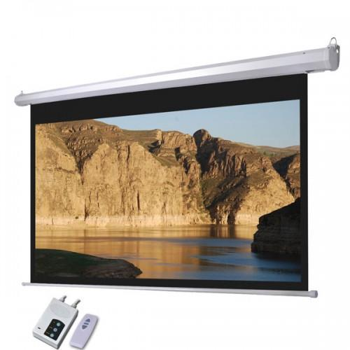 White Motorised Projector Screen 6 Feet X 4 Feet 84 Inches
