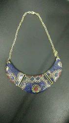 Brass Stone Fashion Necklace