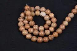 Wooden Jasper Plain Round Beads