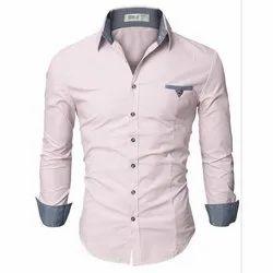 Cotton Full Sleeve Men Stylish Shirt, Packaging Type: Packet
