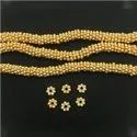 Gold Plated Fancy Flower Bead Spacer