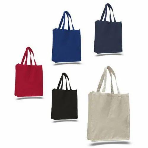 Plain Coloured Cotton Bag, Capacity: 5kg