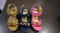 Fancy matrial Heels Girls Sendal