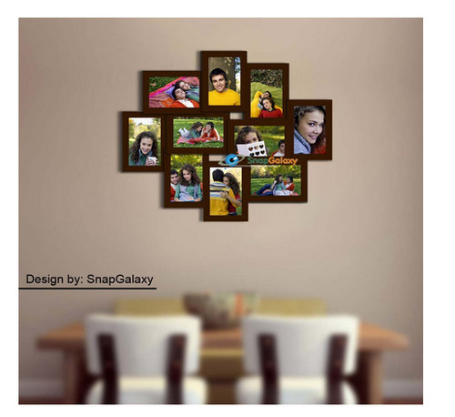 Snapgalaxy Ten Photo Collage Frame, Brown, 4x6 at Rs 3660.00 /piece ...