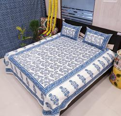 Sanganeri block printed cotton bedsheets
