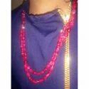 Festive Wear Pink Gemstone Necklace