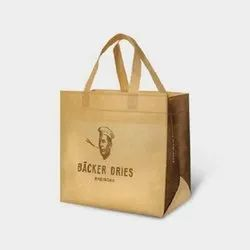 Non Woven Brown Loop Handle Carry Bag