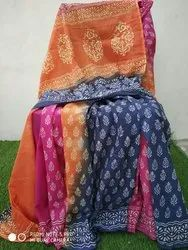Block Print Cotton Sarees