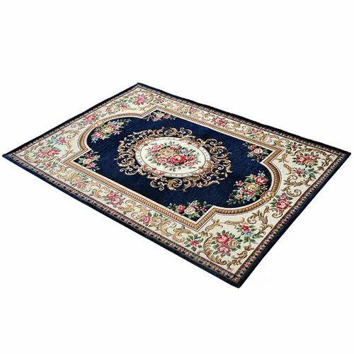Polypropylene,Velvet Rectangular Velvet Prayer Carpet, Size: 6x4 Feet
