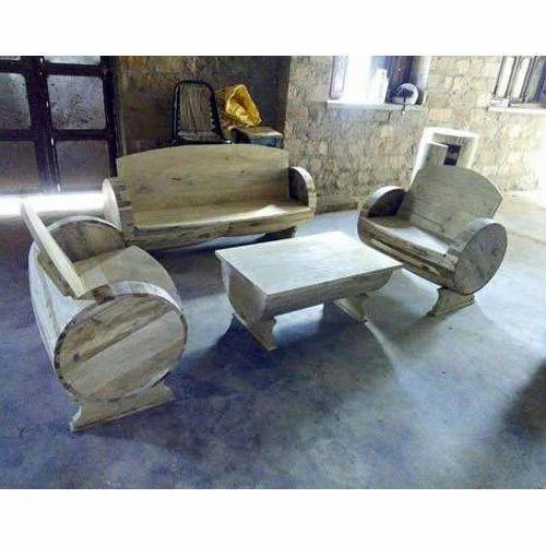 Mango Sheesham Reclaimed Teak Wood Garden Sofa Table Set