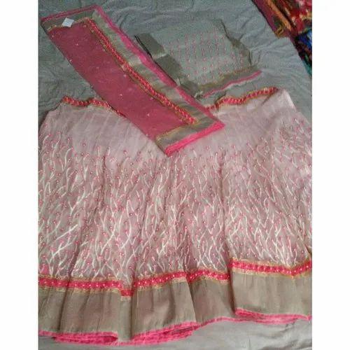 Unstitched Ladies Designer Lehenga, Packaging Type: Packet