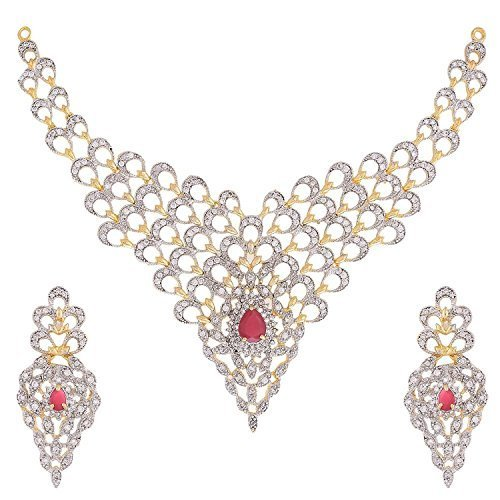 Gold diamond necklace set at rs 371000 piece gold necklace set gold diamond necklace set aloadofball Images
