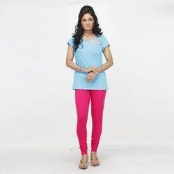Cotton 96 % + Lycra 4% 4 Way Stretchable Ladies Plain Legging