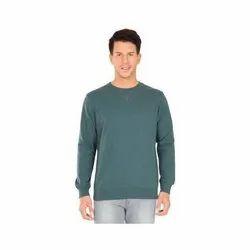 Plain Pine Mens Full Sleeves Cotton T-Shirt, Size: S-XL