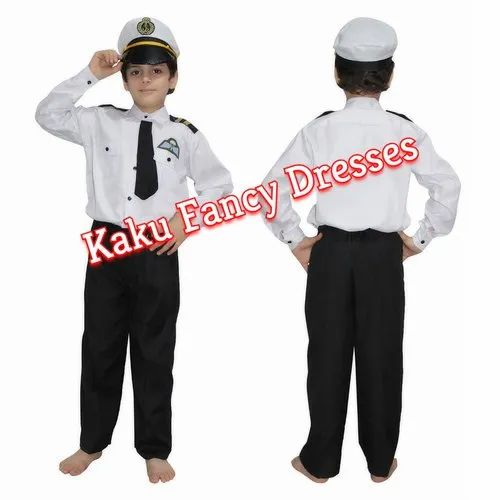Matty/Polyester KAKU Fancy DRESSES Kids Pilot Uniform
