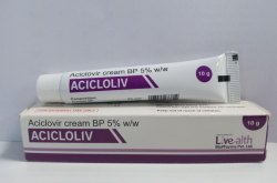 Acicloliv Aciclovir Cream 5%, Packaging Size: 10 G, Packaging Type: Tube