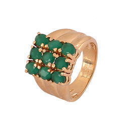 Emerald Synthetic Fancy Rings